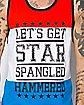 Let's Get Star Spangled Hammered Mens Tank
