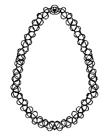 Black Tattoo Choker Necklace