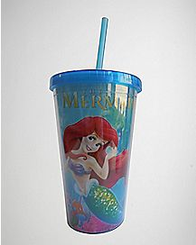 Ariel Cup with Straw 16 oz. - The Little Mermaid