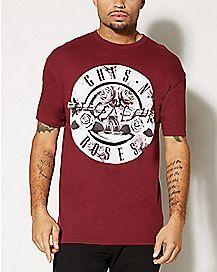 Floral Gun Guns N Roses T shirt