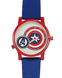 Captain America Watch Blue