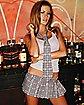 Hustler Plaid School Girl Skirt - Grey