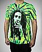 Bob Marley Burnin' Green Tie Dye Tee