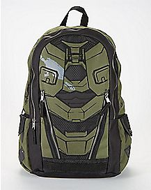 Black and Olive Halo Backpack