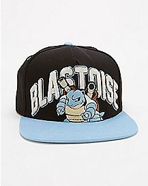 Embroidered Blastoise Pokemon Snapback Hat