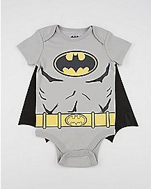 Batman Logo Caped Baby Bodysuit - DC Comics