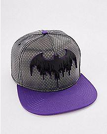 Batman Grey and Purple Snapback Hat - DC Comics