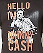 Johnny Cash Hello Name Tee
