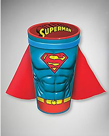 Molded Caped Superman Pint Glass 16 oz Ceramic - DC Comics