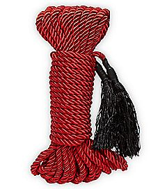 Silky Shackles Bondage Rope Red - Pleasure Bound