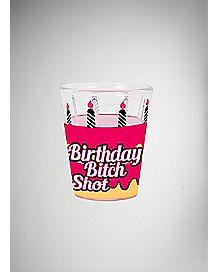 Birthday Bitch Cupcake Shot Glass - 1.5 oz.
