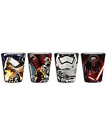 Force Awakens Star Wars Shot Glasses 1.5oz. - 4 Pack