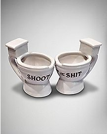 Shoot The Shit Toilet Shot Glass - 2 oz.