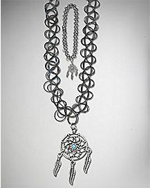 Dream Catcher Tattoo Necklace