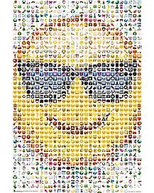 Smiley Face With Sunglasses Mosaic Poster