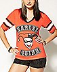 Harley Quinn Vneck Hockey Tee