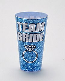 Team Bride Plastic Cup Blue - 20 oz.