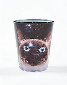 Space Cat Big Eyed Shot Glass 1.5 oz