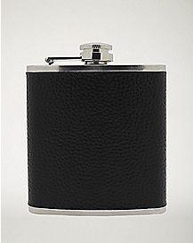 Black Leather Flask - 6 oz