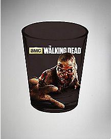 Foil Zombie Hand The Walking Dead Shot Glass 1.5 oz