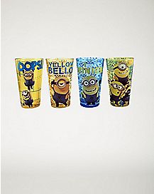 Minions Despicable Me Pint Glass Set - 16 oz