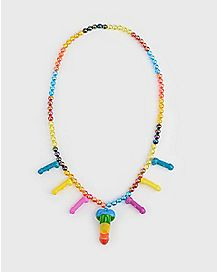 Rainbow Penis Whistle Necklace
