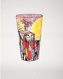 Sketch Jack & Sally Nightmare Before Christmas Pint Glass 16 oz