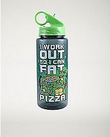 Eat Pizza Water Bottle 25 oz. - TMNT