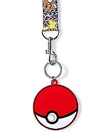 Pokeball Pokemon Lanyard