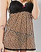 Sheer Leopard Babydoll and G-String