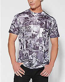 Sublimated Classic Image Walking Dead T shirt