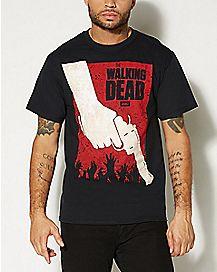 Gun The Walking Dead T shirt