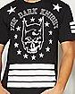 Dark Knight Striped Guys T Shirt - DC Comics