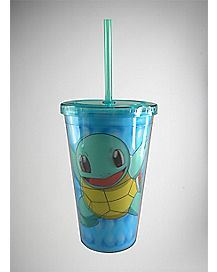 Pokemon Squirtle Cup With Straw - 16 oz.
