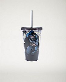 Batman Cup With Straw And Ice Cubes - 16 oz