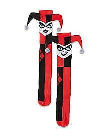 3D Harley Quinn Knee High Socks