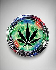 Tie Dye LED Weed Leaf Ashtray