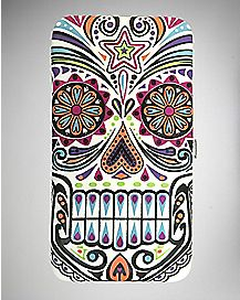 Embossed Sugar Skull Hinge Wallet