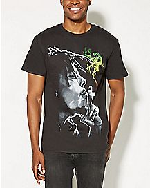 Rasta Smoke Bob Marley T shirt