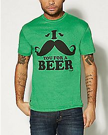 mustache you for a beer t shirt