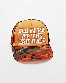 f18abe39afe Blow Me At The Tailgate Trucker Hat