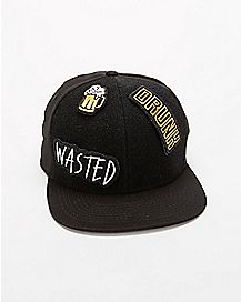 Drunk Patch Snapback Hat