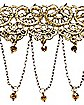 Goldtone Lace Chain Choker Necklace