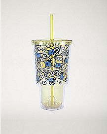 All Over Minions Despicable Me Cup With Straw - 32 oz.