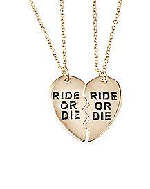 Ride Or Die Friendship Necklaces