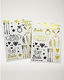 Gold Foil Bachelorette Tattoos
