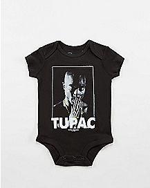 Praying Hands Tupac Baby Bodysuit