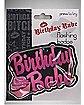 Flashing Birthday Babe Pin