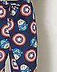 Face Shield Captain America Marvel Lounge Pants