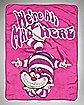 Cheshire Cat Alice in Wonderland Fleece Blanket